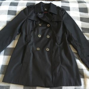 B2G1! Calvin Klein Small Black Trench Coat